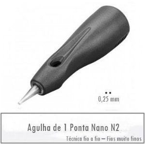 Agulha de 1 Ponta Nano N2 - Linelle II E0401N2