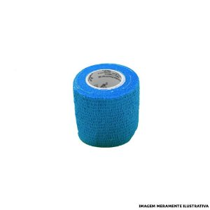 Fita Elástica Antiderrapante Azul Turquesa 5,0cm