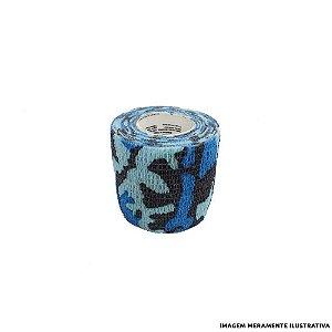 Fita Elástica Antiderrapante Camuflada Azul 5,0cm