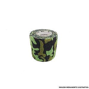 Fita Elástica Antiderrapante Camuflada Verde 5,0cm