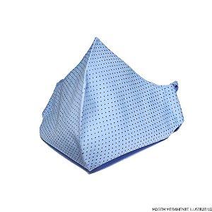 Máscara de Tecido 100% Algodão Azul