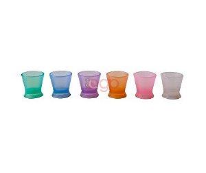 Dappen PQ colorido - silicone C/ Ventosa
