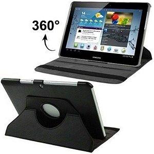 Capa Giratória Couro 10.1 Polegadas Tablet Samsung Galaxy Tab 2