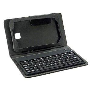 Capa Case Couro Teclado Bluetooth 7.0 Polegadas Tablet Samsung Galaxy Tab 3