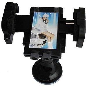Suporte Veicular Universal c/ Ventosa p/ Vidros (GPS, Celulares)