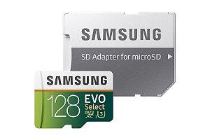 MicroSD Cartão de Memória - 128GB - Samsung EVO