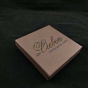 Caixa Rígida Personalizada Laser com 16 bombons , trufas ou Pães de Mel