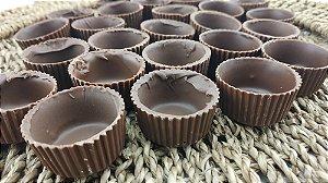Copinhos e Forminhas de Chocolate ao Leite para tomar Licor ou rechear com seu doce preferido