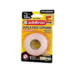 Fita Dupla Face Espuma 1,9 cm x 2,00 mts