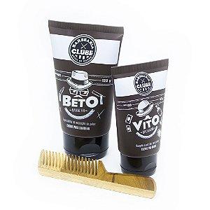 Kit para Barba Barbearia Clube Ganhe Pente de Bolso