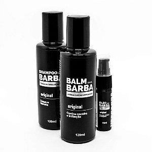 Kit Shampoo para Barba e Balm Hidratante Ganhe Óleo de Barba - Use Barba