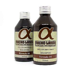Shampoo e Bálsamo para Barba e Cabelos Marros ou Ruivos - Fórmula 84 Macho-Lândia