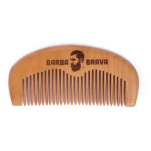 Pente de Madeira para Barba e Cabelo Barba Brava