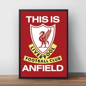 Placa Decorativa Liverpool This is Anfield