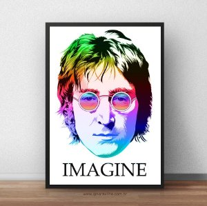 Placa Decorativa Imagine John Lennon