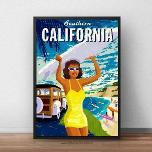 Placa Decorativa California