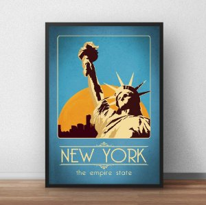Placa Decorativa New York