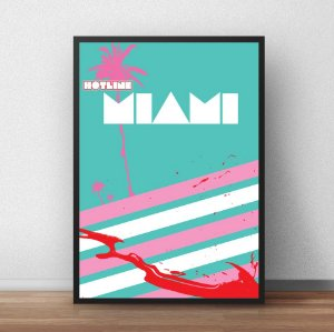 Placa Decorativa Miami Beach