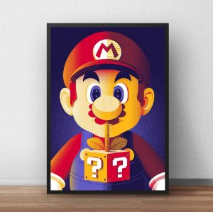 Placa Decorativa Mario Bros