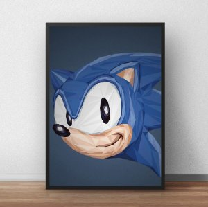 Placa Decorativa Sonic