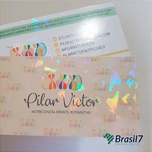 Cartão de Visita com efeito holográfico