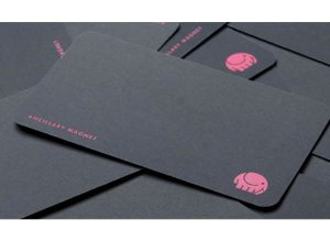 Cartão de visita em papel couchê - Fosco