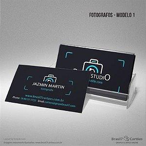 Cartão de visita em papel couchê com verniz total - FOTÓGRAFO MOD 1