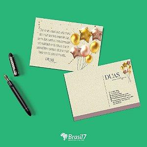 Cartão Postal 10x15cm em papel ecológico reciclado