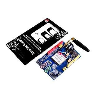 Placa de Desenvolvimento SIM900 GPRS/GSM Quad-Band