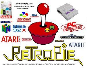 k16 - Mini Console SNES com 11 Consoles e 4000 Jogos + Cabo HDMI