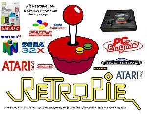 k17 - Mini Console MEGA DRIVE com 11 Consoles e 4000 Jogos + Cabo HDMI