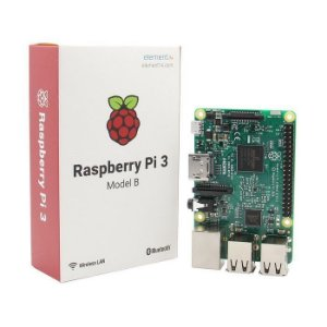 Raspberry Pi 3  / 1GB de RAM / Quad Core 1.2 GHz 64-bit / Wi-Fi / Bluetooth