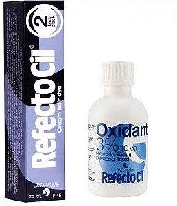 KIT Tintura Refctocil para cílios + Oxidante refctocil