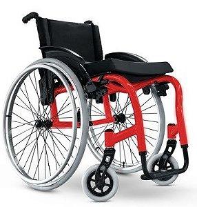 Cadeira de Rodas StarLite - Ortobras (medidas 40x40x40) - cores Azul, Vermelho e Preto
