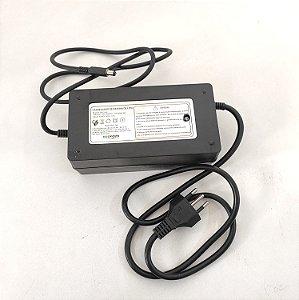 Carregador de Bateria de Lítio 36V 2AH - Pino Fino - Avulso