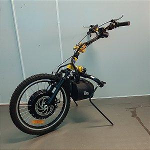 KIT LIVRE® - Pro 1000W amarelo com painel LCD4 e acelerador com chave de partida e guidão amarelo - SEMINOVO