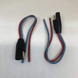 Chicote inst. auto falante/farol de milha - 2,5MM - Fio azul/vermelho (01 par)