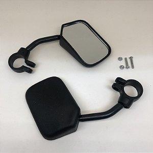 Espelho Retrovisor Retangular Haste Curta D/E (02 Unid)