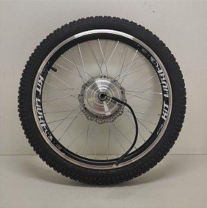 """Roda Motorizada Kit Livre - 350W / 600W Aro 20"""" - Cor Preto - Escape"""