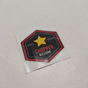 Etiqueta Adesiva com Película Plástica - Chopper (01 Unid)