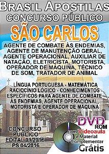 São Carlos 2016 - Apostilas Nível Fundamental, Médio e Superior