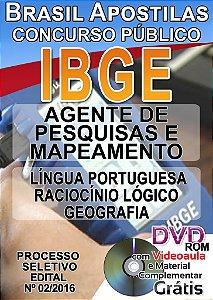 IBGE 2016 - AGENTE DE PESQUISAS E MAPEAMENTO