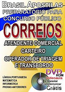 CORREIOS 2017 - Atendente  Comercial, Carteiro, Operador De Triagem e Transbordo - Apostila Preparatória