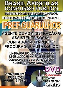 Guarulhos -SP 2016 - Apostila Para Ensino Fundamental, Médio e Superior - Diversos Cargos