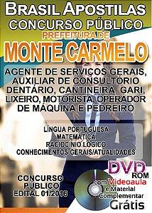 Monte Carmelo - MG 2016 - Apostila Para Nível Fundamental, Médio e Superior