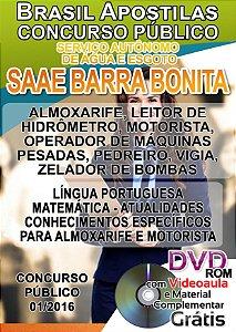 Barra Bonita - SP 2016 - Serviço Autônomo de Água e Esgoto - SAAE