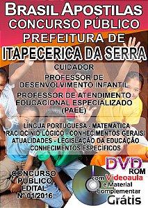 Itapecerica da Serra - SP 2016 - Apostila Para Ensino Médio e Superior