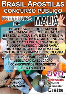 Mauá - SP 2016 - Apostila para Professor - Todos os cargos