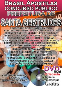 Santa Gertrudes - SP 2016 - Apostila Para Ensino Superior