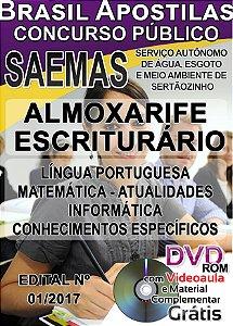Sertãozinho - SP - SAEMAS - 2017 - Apostila para Almoxarife e Escriturário
